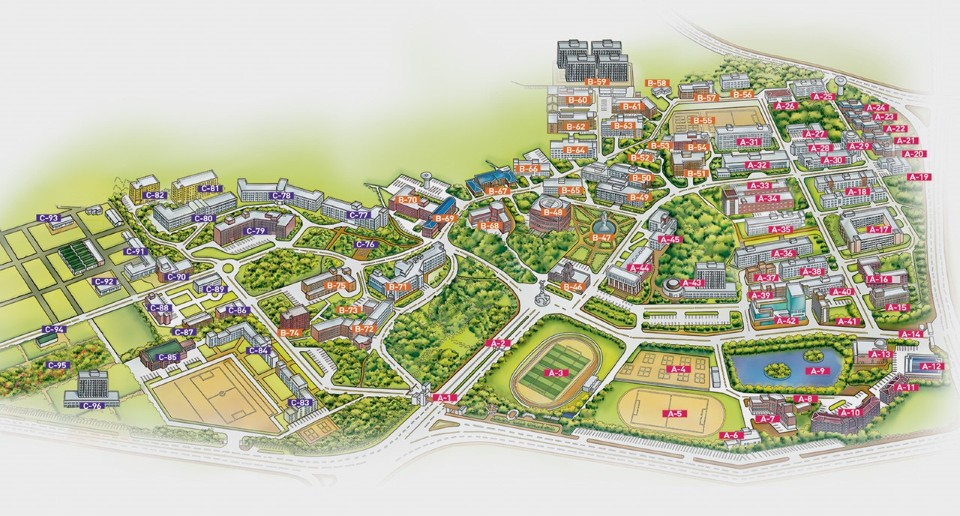 CNU Campus Map.