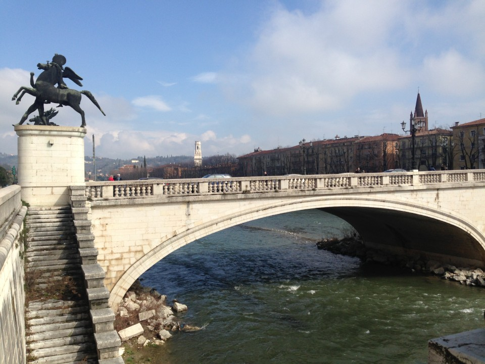 Adige River is an important part of the city of Verona