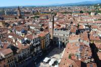 A view of Verona from the top of the Lamberti tower.
