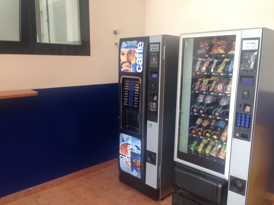 You can get an afternoon snack between classes in the break area.