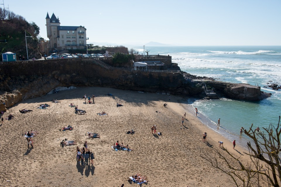One of the beaches in Biarritz