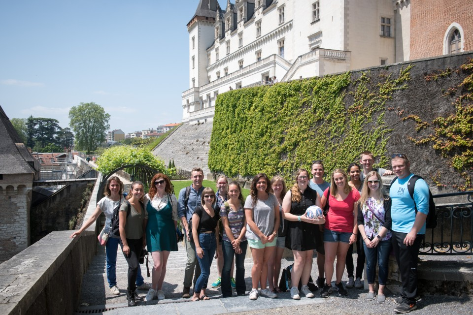 In front of the Castle of Pau