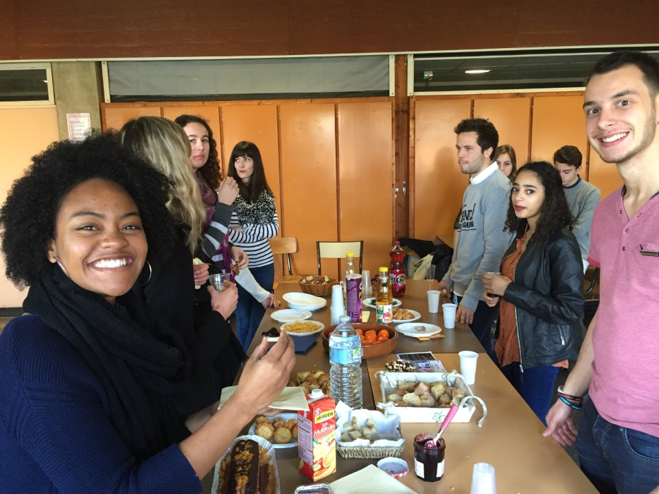 Students talking about their own cultures