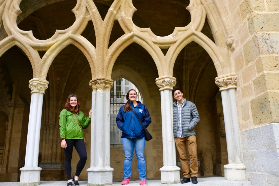 Visiting the cloister