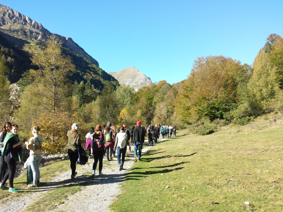 Hiking with our tour guide through the Pyrenees