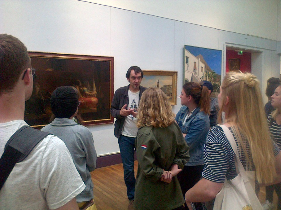 The Art History class in the Museum of Fine Arts of Pau