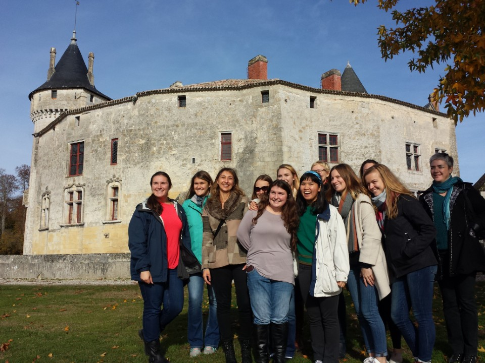 Visiting the Montesquieu castle for French literatureclass
