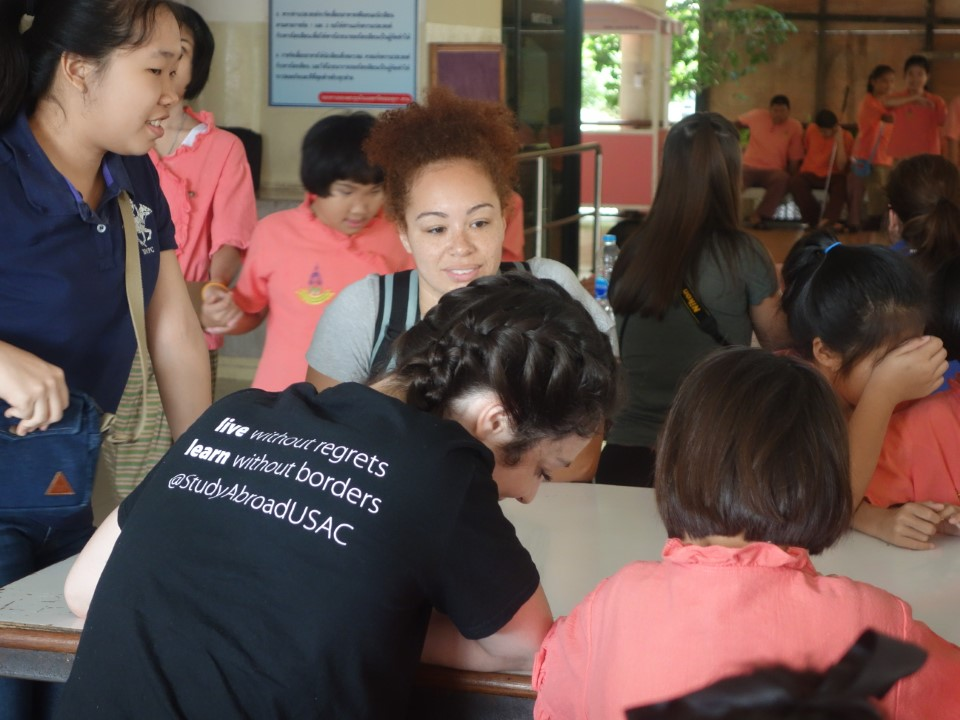Teaching English at the school for the blind