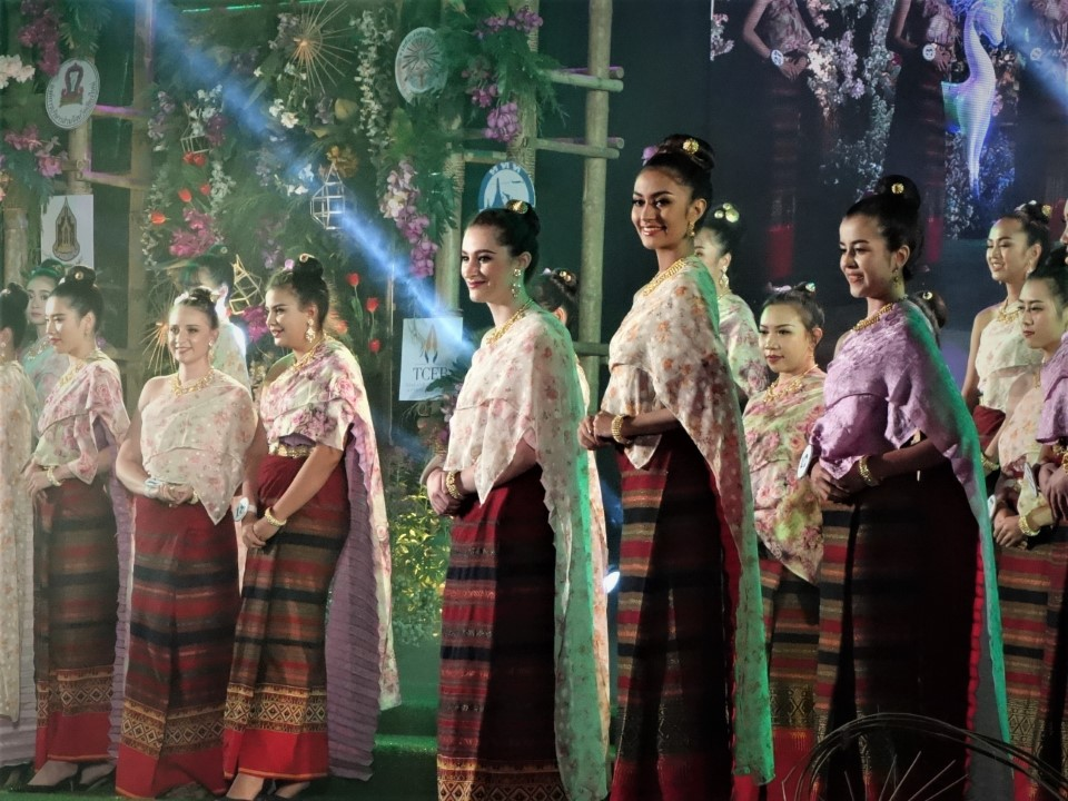 Students participate in theMiss International Flower Bloom Beauty Contest