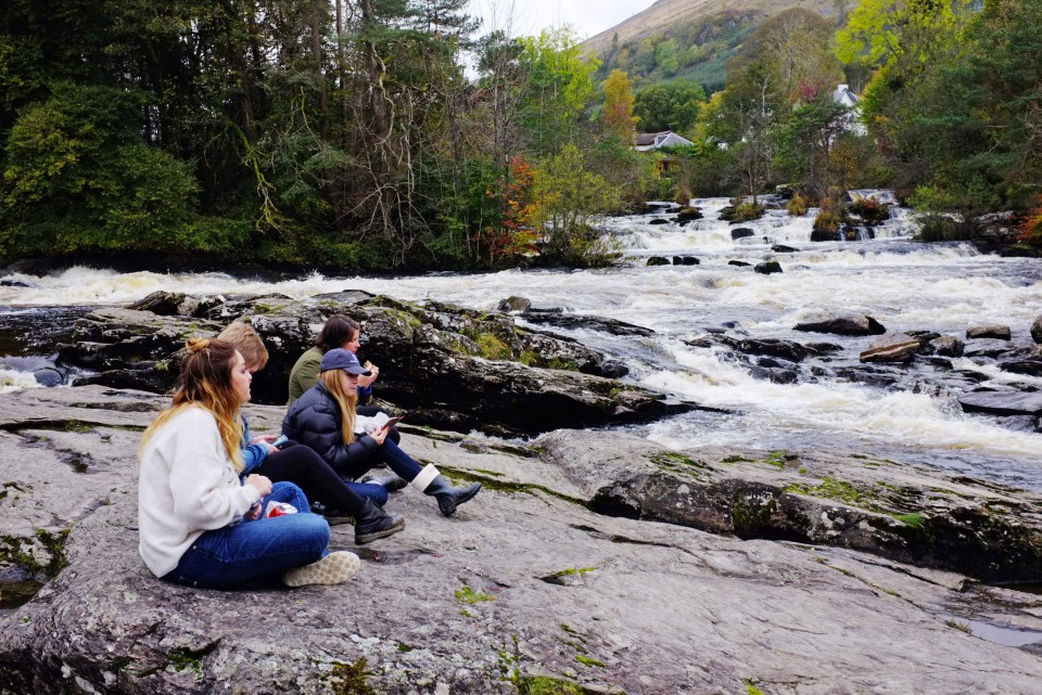 USAC trip to the Scottish Highlands, autumn 2017.Falls of Dochart in the Stirlingshire village of Killin.Photos by Julie Howden
