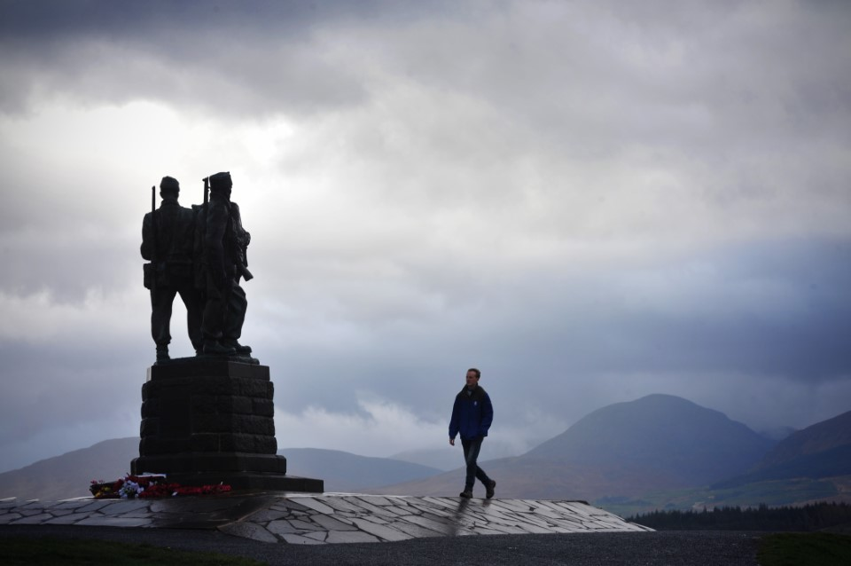 USAC trip to the Scottish Highlands, autumn 2017.Monument to The Commandos near Spean Bridge who were trained in the Highlands during World War Two.Photos by Julie Howden