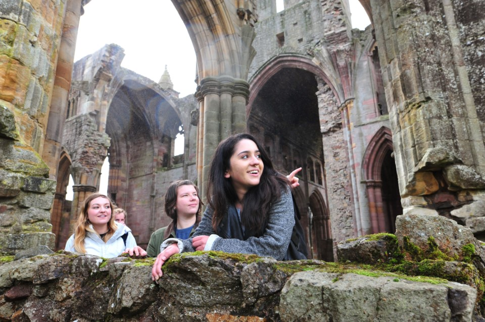 USAC trip to the Scottish Borders 2017Melrose Abbey