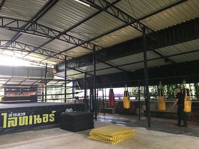 Get some exercise in the boxing gym at Khon Kaen University