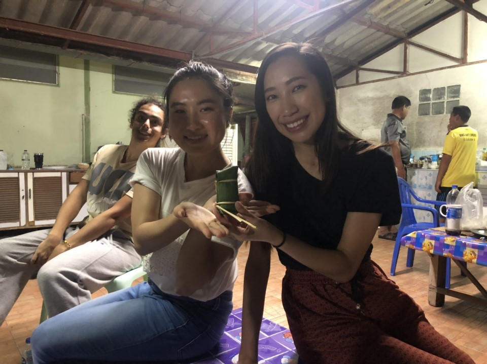 Local festival at Thai student house