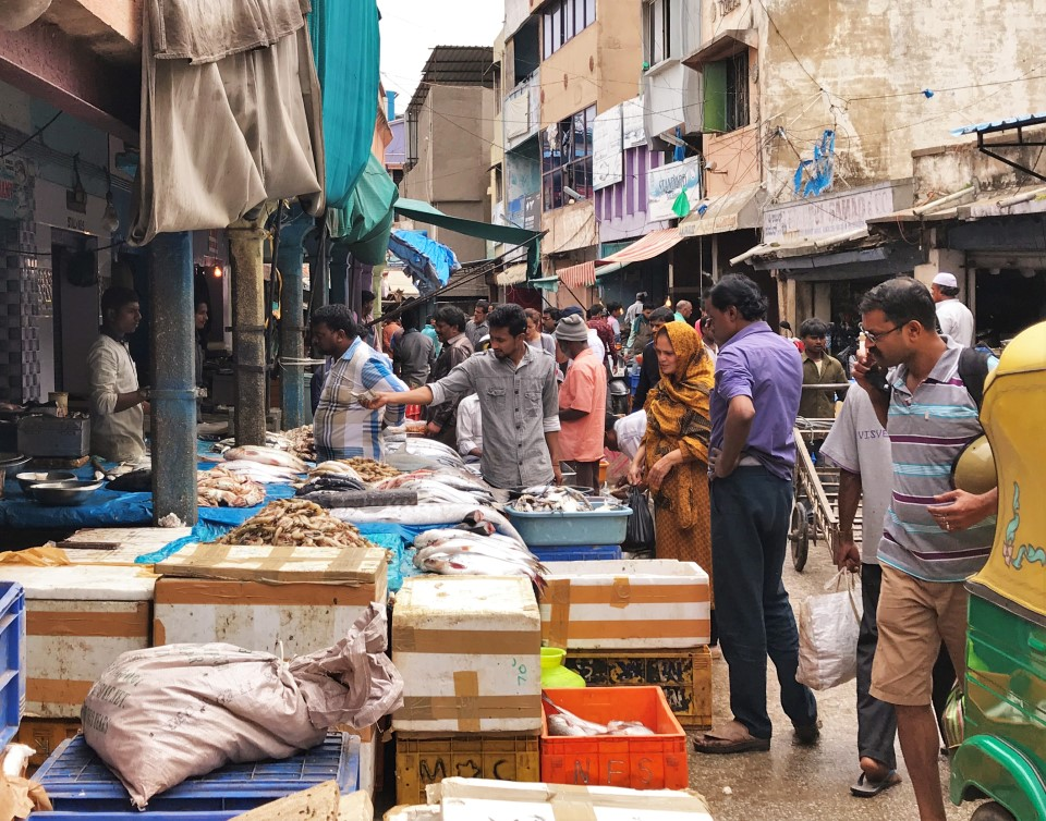 Fish being sold at the markets in Bengaluru