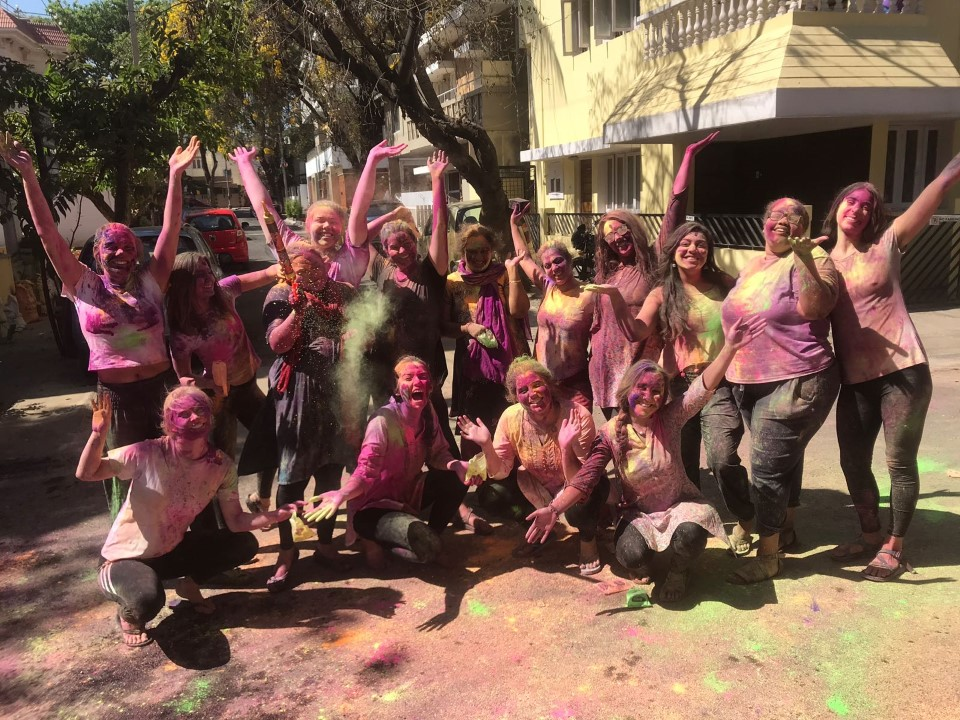USAC group poses after a successful Holi
