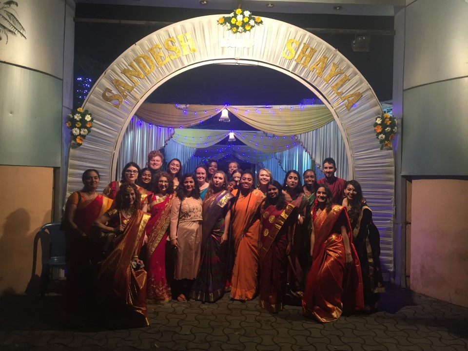 Students got the opportunity to attend a traditional Indian wedding