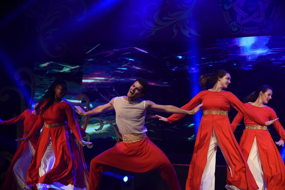 Students perform at NRITTA at Christ University's Dance Day