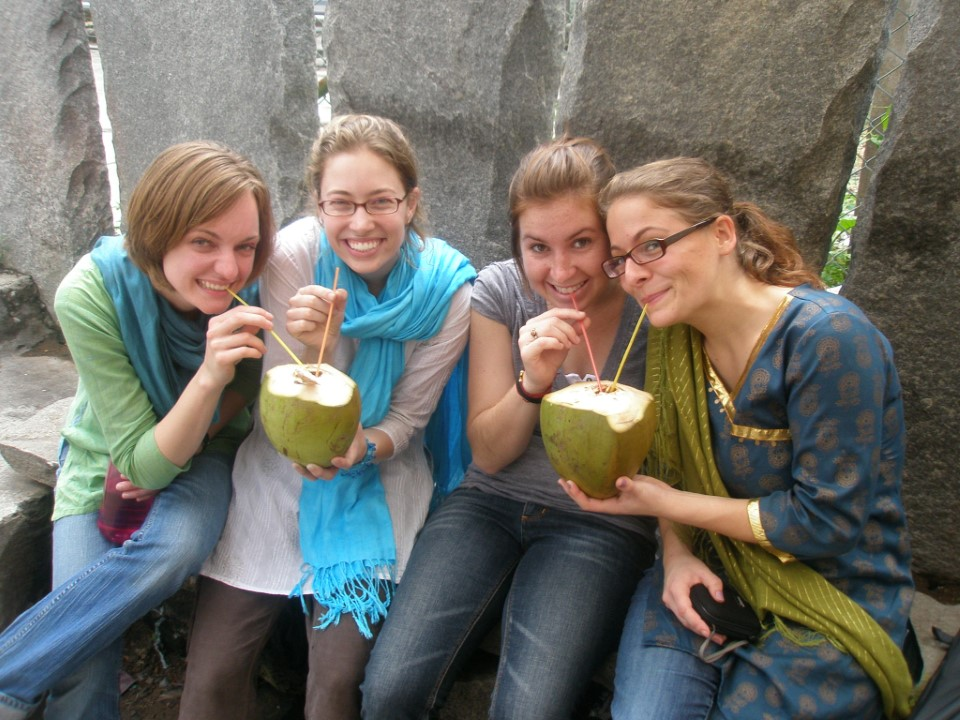 Fresh coconuts are always a good time!