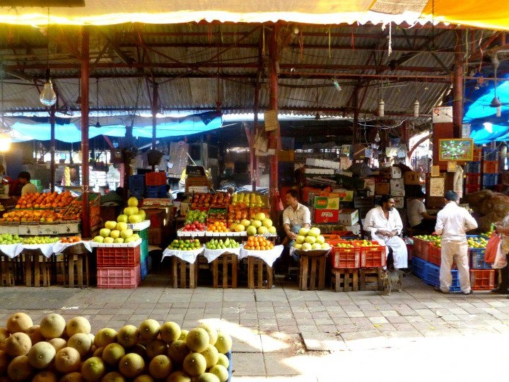 Scenes of fresh fruit and the K.R. Market bustle