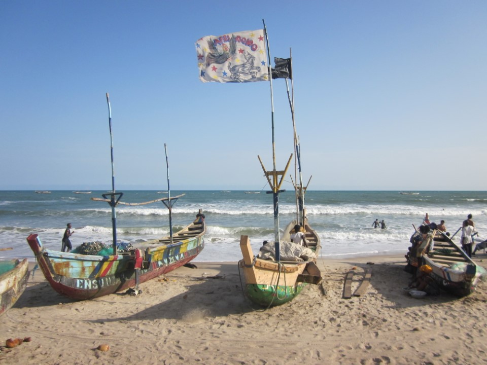 Accra beaches and boats