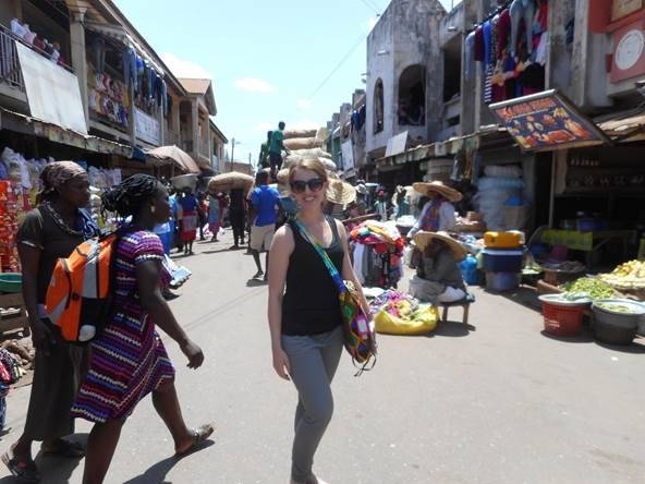 Shopping the market in Accra