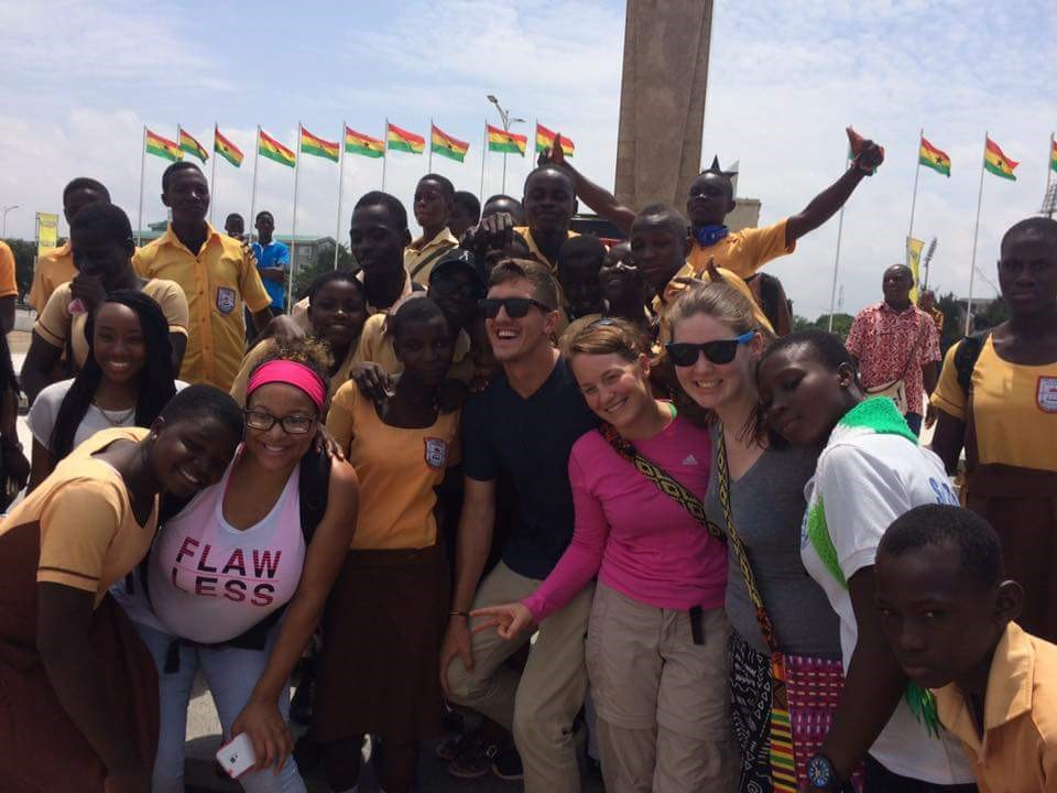 All students receive a tour of the city when they arrive in Accra