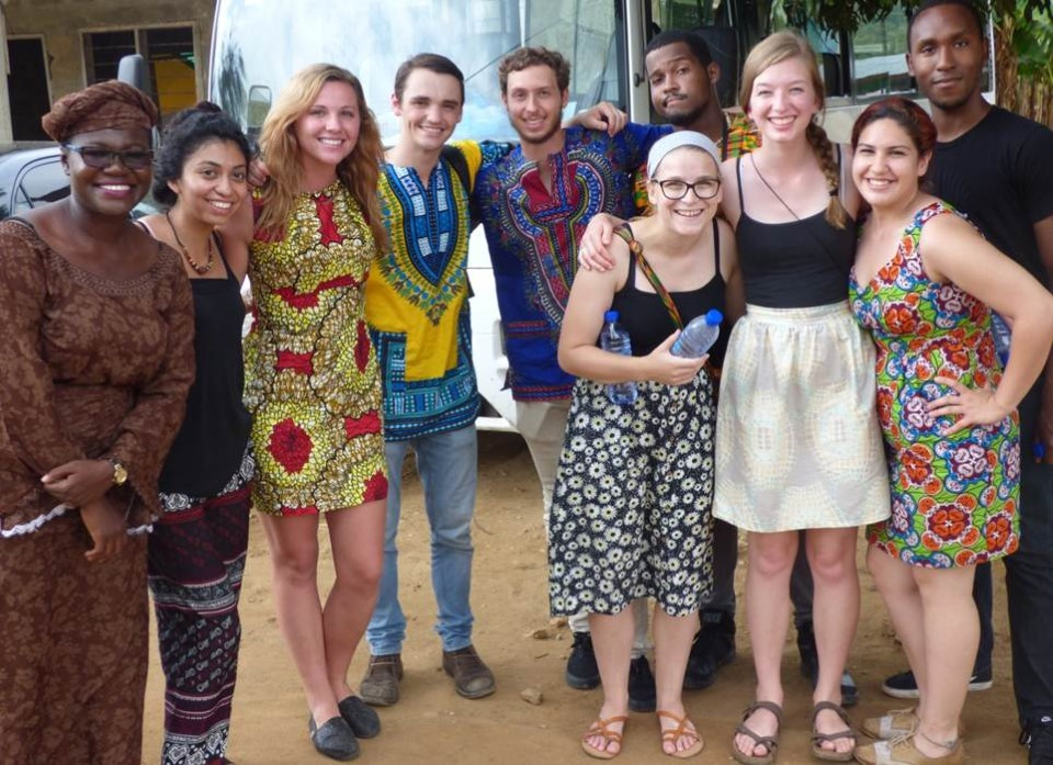 Happy USAC students in Ghana