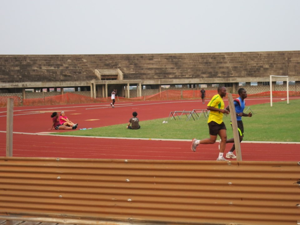 Relax or get a jog in on the running track