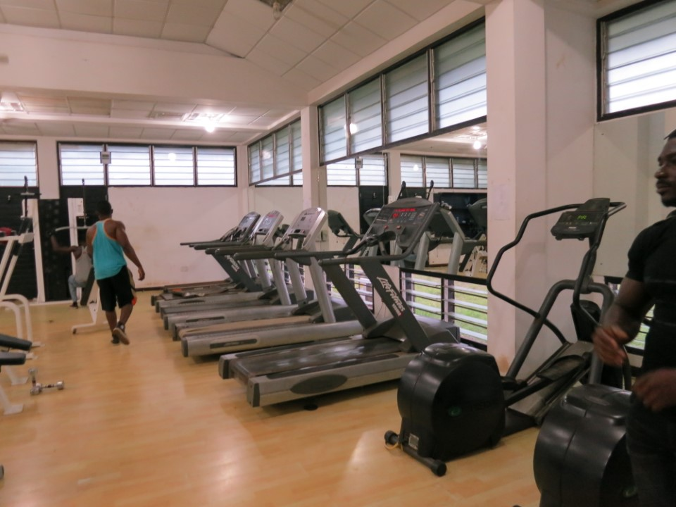 Stay in shape with the gym on campus