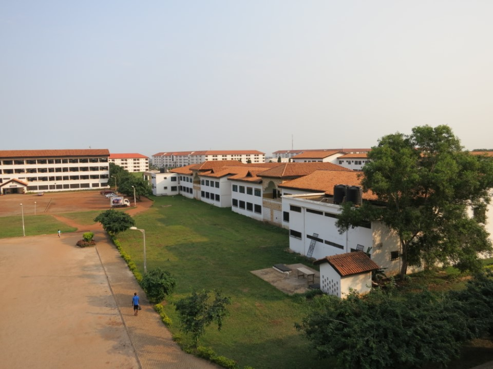Another view from the dorm room, overlooking campus