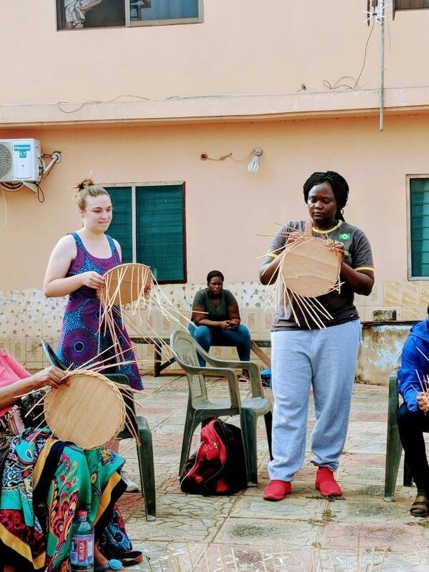 Learning how to make traditional Ghanaian arts