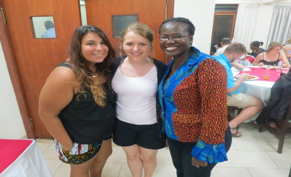 Resident Director, Abby, with students
