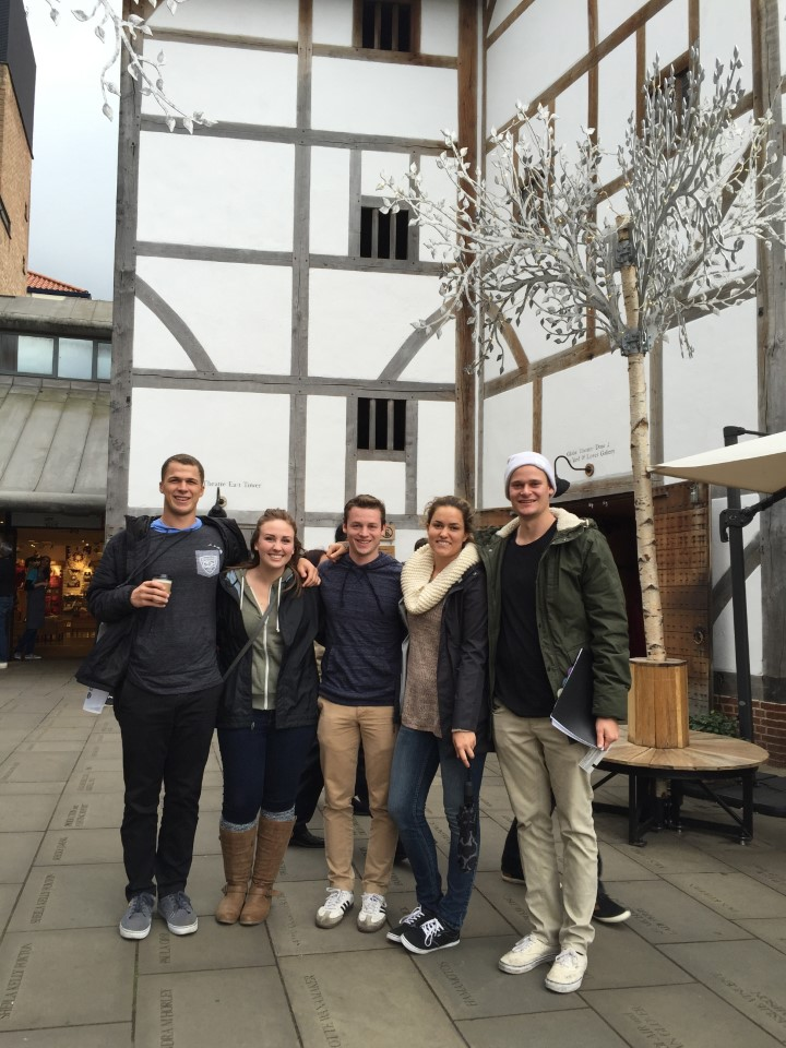 Students at Shakespeare's Globe Theatre