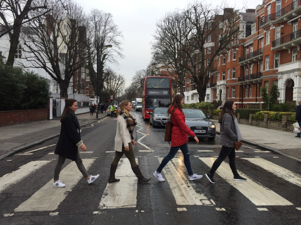 You can't go to London without doing the famous Beetles walk across Abbey Road.