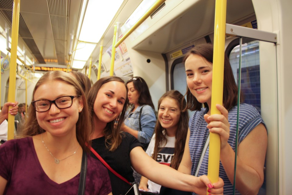You'll have plenty of time for photos with friends on the tube