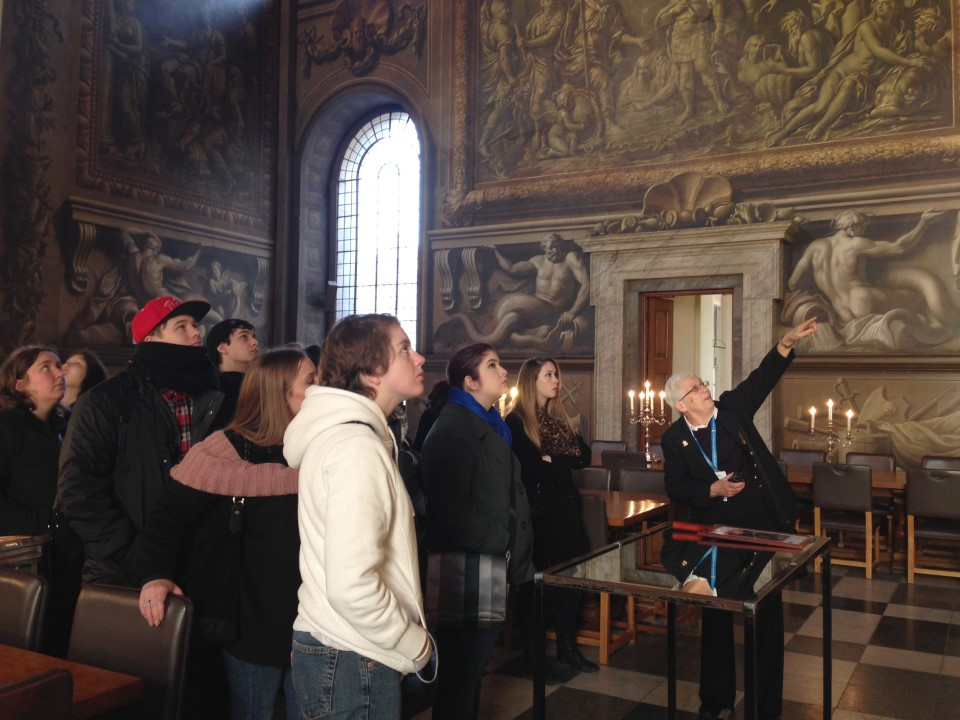 Exploring the Painted Hall in Greenwich
