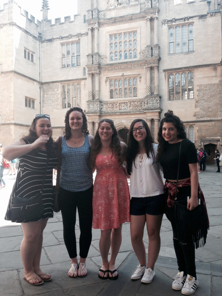 In front of the Bodleian Library