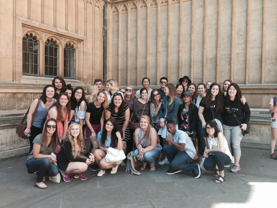 Group shot in front of Bodleian Library