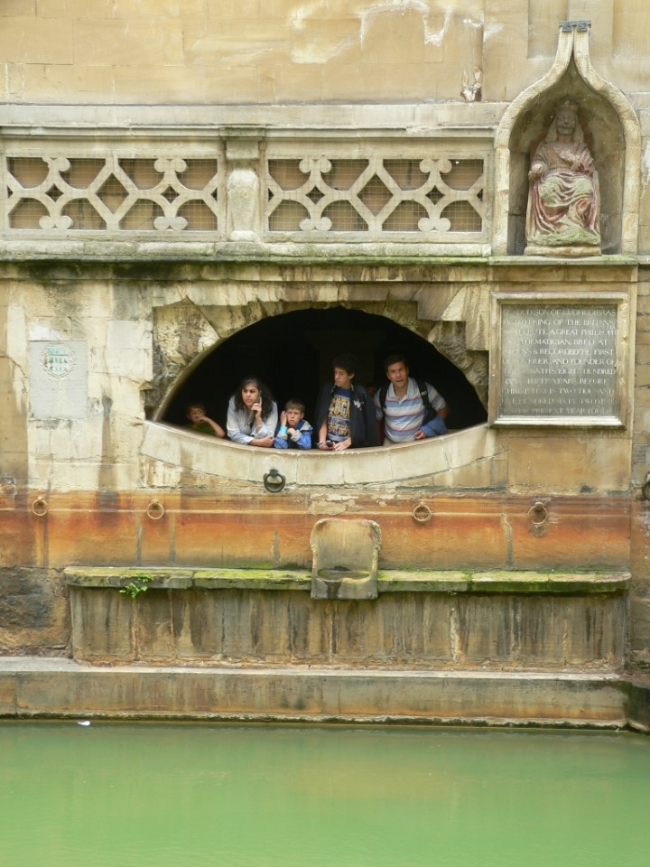 The Roman baths are built around the only hot spring located in Britain