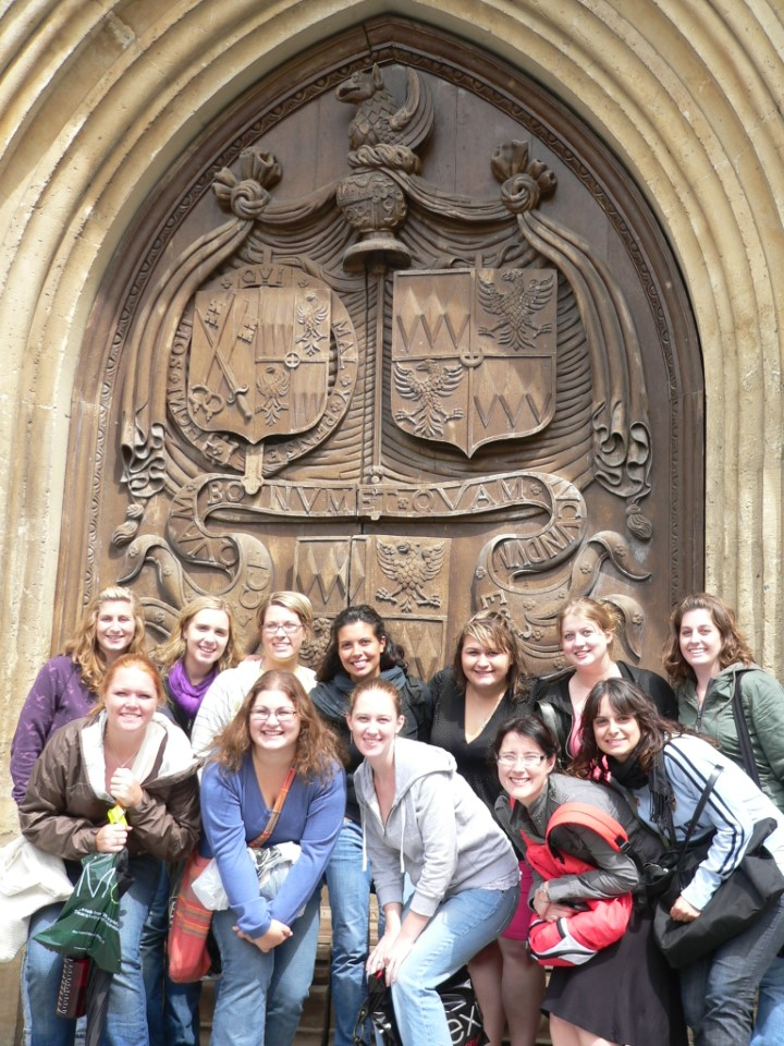 The Bath Abbey has been in service since 1499. Stop at the main doors for a nice backdrop, as these students did
