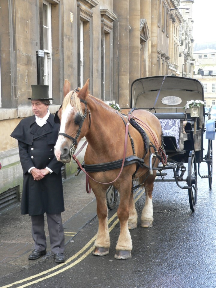Horse and carriage is a great way to get around Bath