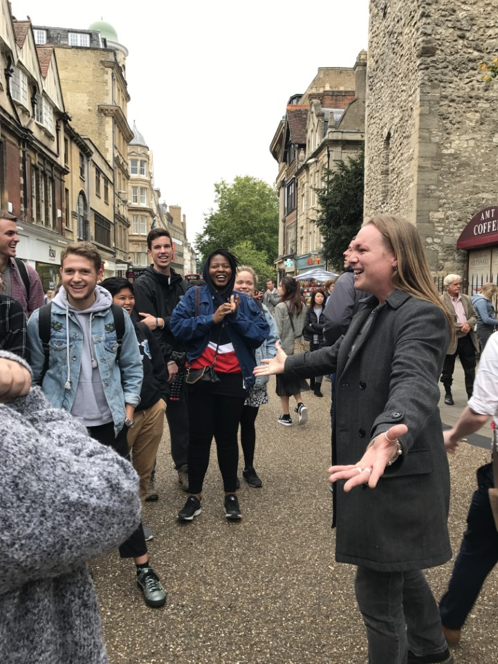 Getting a tour of Oxford