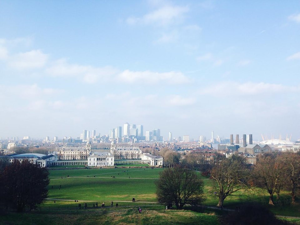 The view of the city from Greenwich