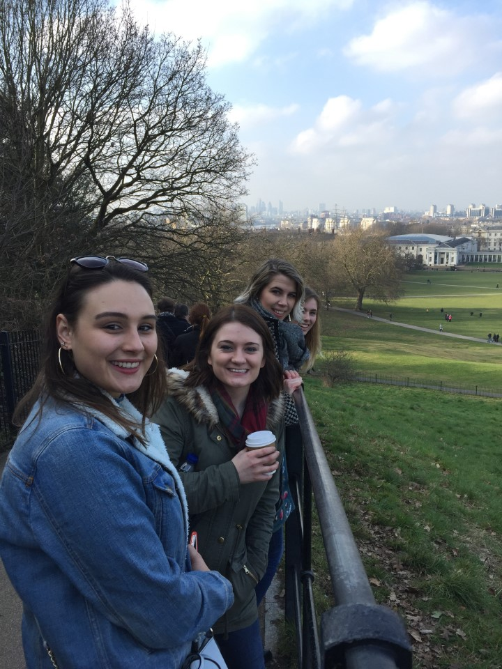 Students in Greenwich on the way to the Royal Observatory