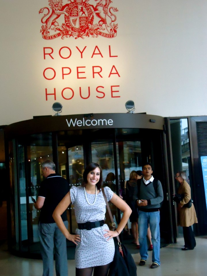 Watching a performance at the Royal Opera House