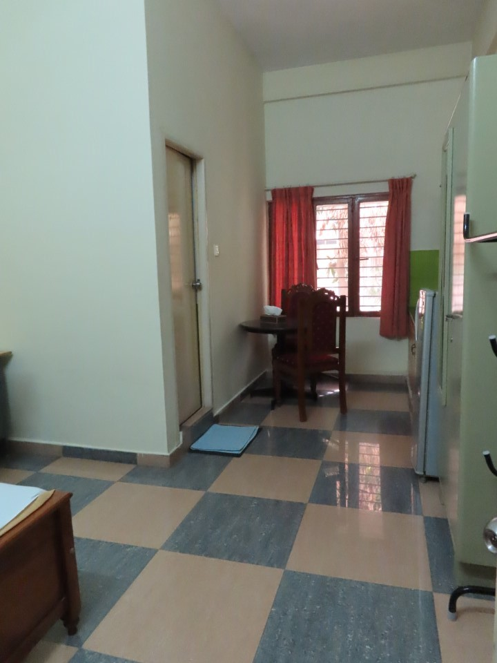 Another view of the kitchen in Jonas Hall student housing in Bengaluru