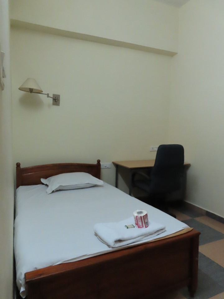 Typical bed in Jonas Hall residence for student housing in Bengaluru