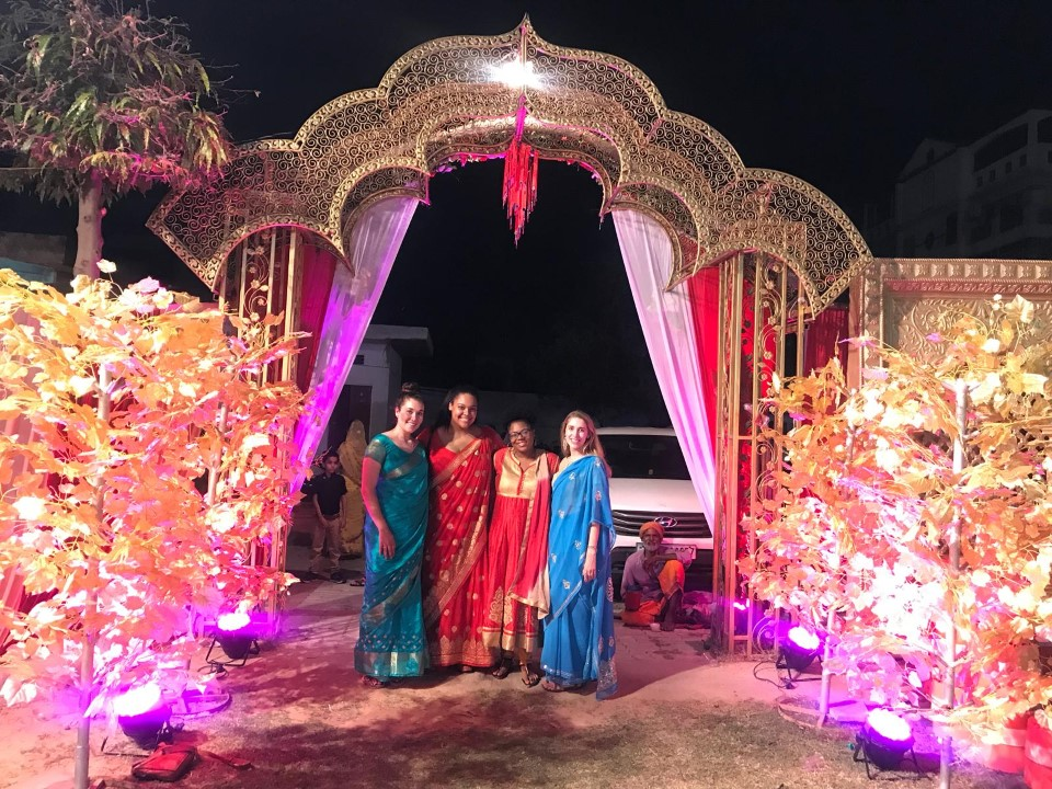 Evening event where students dressed in traditional wear