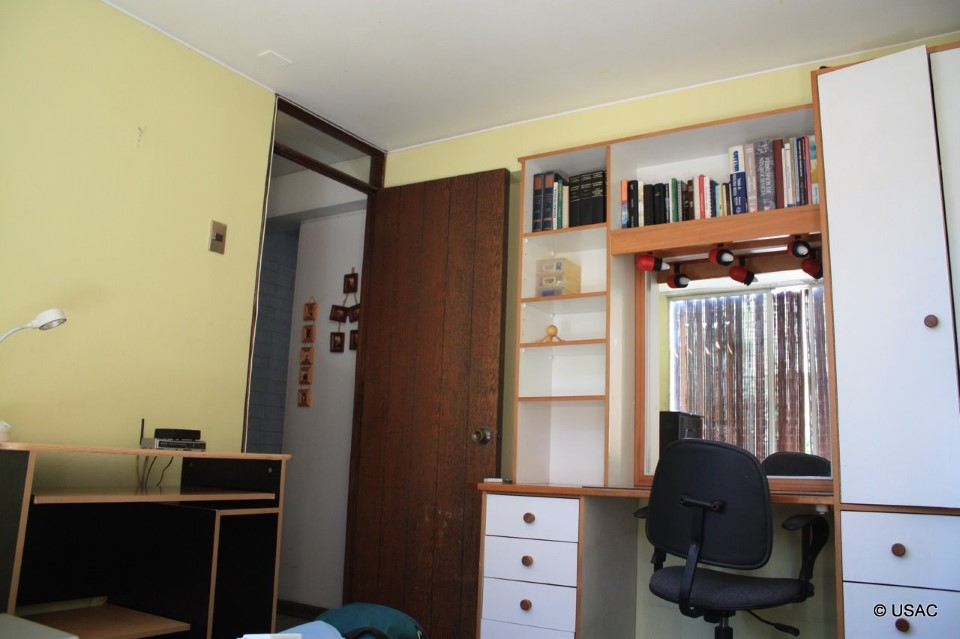 A typical homestay bedroom will include a desk and chair for homework.